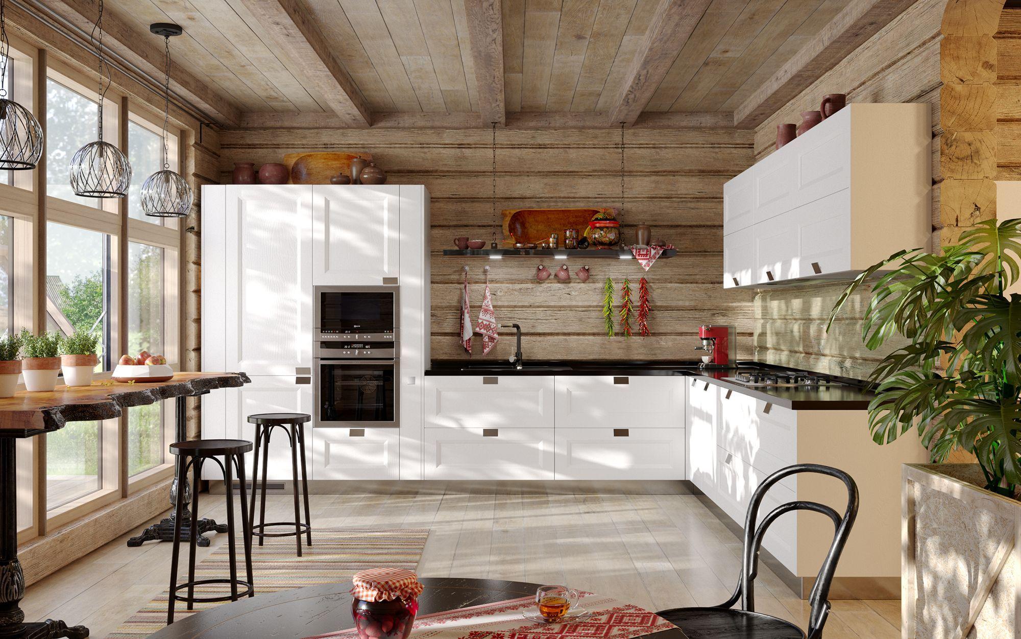 Фото кухни в деревянном исполнении