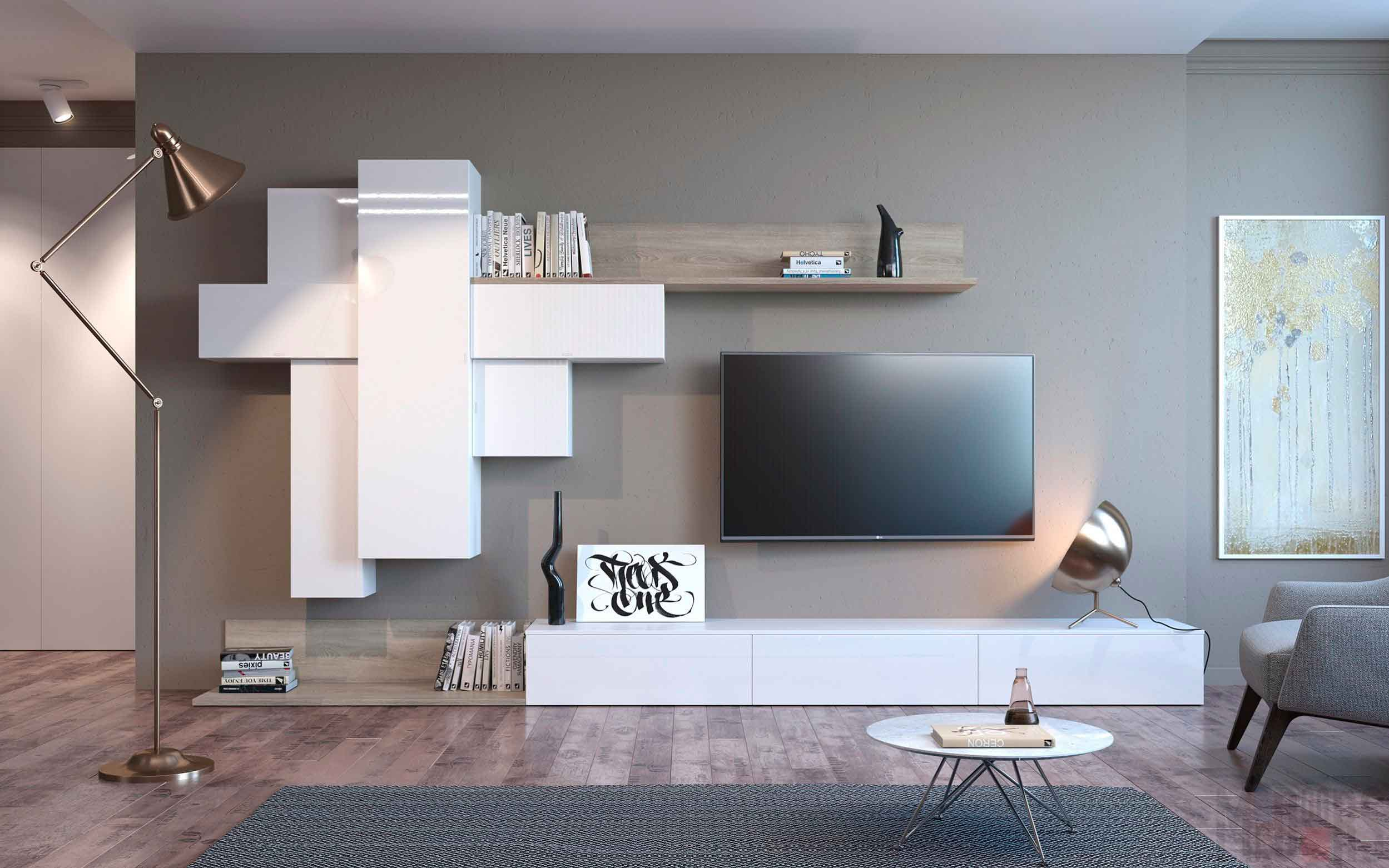 Современная гостиная в квартире-студии