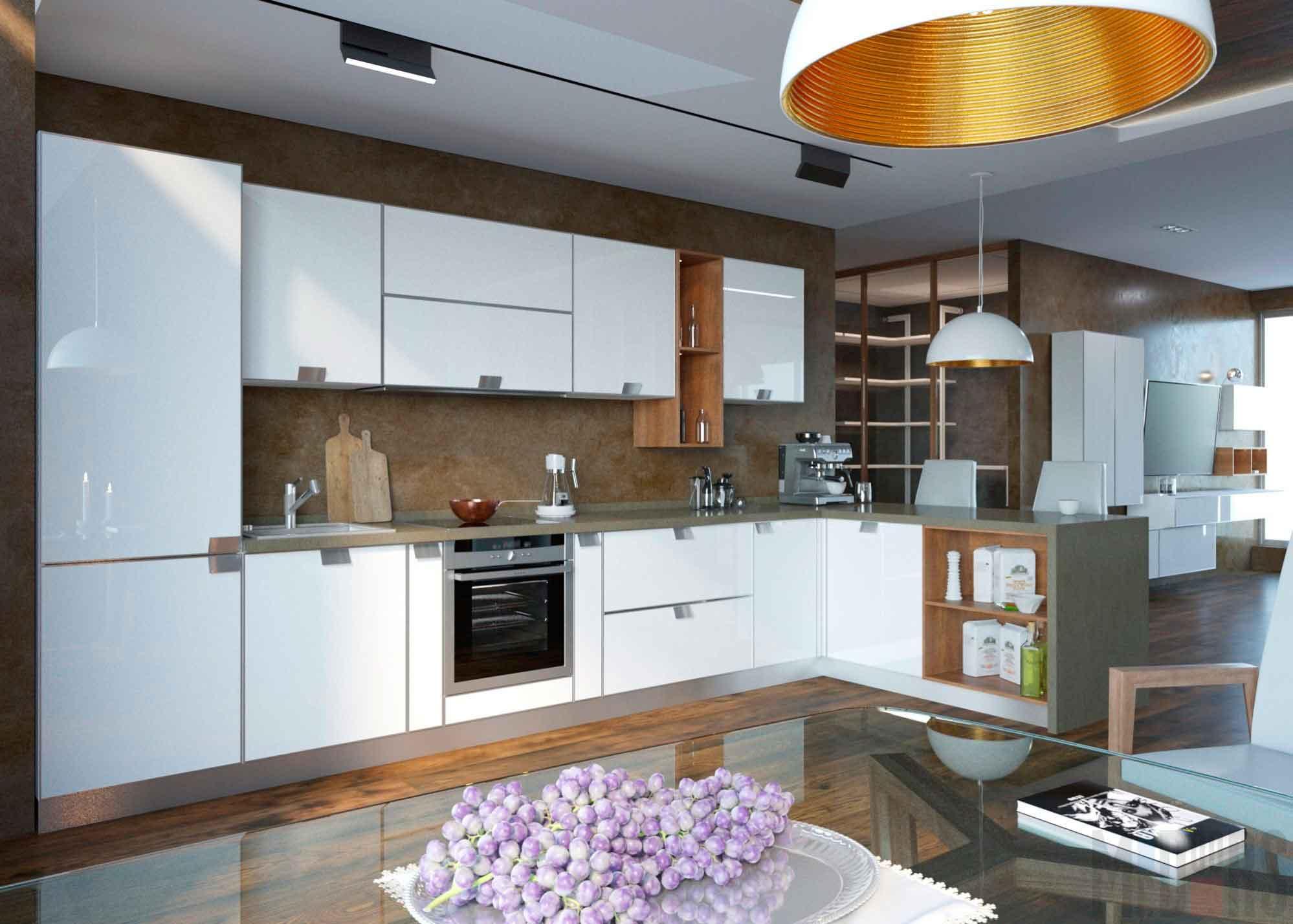 Интерьер квартиры-студии со светлой мебелью